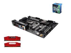 Intel i5-6600 Skylake Quad-Core 3.3GHz LGA 1151, Gigabyte GA-Z170X-Ultra Gaming ATX MOBO, G.SKILL Ripjaws V Series 16GB(2 ...