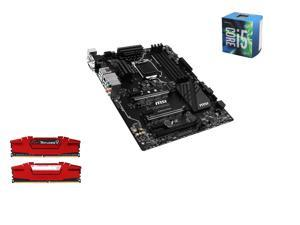 Intel i5-6600 Skylake Quad-Core 3.3GHz LGA 1151, MSI SLI Plus ATX MOBO, G.SKILL Ripjaws V Series 16GB(2 x 8GB) DDR4 2400