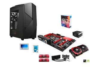 Intel i7-6700K Skylake 4.0GHz, Corsair H100i Water Cooler, ASRock Fatal1ty Gaming Z170X ATX, GeIL 16GB DDR4 3000, NZXT Noctix ...