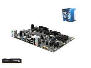 Intel i3-6100 Skylake 3.7GHz LGA 1151, GIGABYTE GA-H110M-A LGA 1151 H110 Micro ATX MB, Kingston HyperX Fury 8GB DDR4 2133 ...