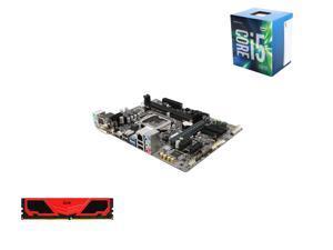 Intel Core i5-6500 6M Skylake Quad-Core 3.2 GHz LGA 1151, GIGABYTE LGA 1151 H110 Micro ATX MB, Team Elite Plus 8GB DDR4 2133 ...