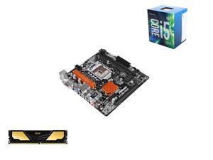 Intel Core i5-6500 6M Skylake Quad-Core 3.2 GHz LGA 1151, ASRock LGA 1151 Intel H110 Micro ATX MB, Team Elite Plus 8GB DDR4 ...