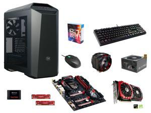 Intel Core i7-6700K, CM Air Maker 8, GIGABYTE G1 Z170 Gaming 5, Crucial Ballistix 16GB DDR4 2400, SanDisk PLUS 480GB SSD, ...