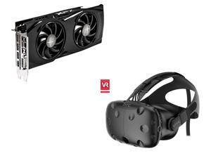 XFX Radeon RX 480 DirectX 12 RX-480P8DFA6 8GB 256-Bit GDDR5 PCI Express 3.0 CrossFireX Support GTR Triple X Video Card, HTC ...