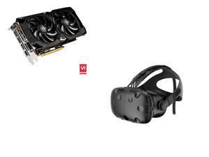 XFX Radeon RX 480 DirectX 12 RX-480P836BM 8GB 256-Bit GDDR5 PCI Express 3.0 CrossFireX Support Video Card, HTC Vive - Virtual ...