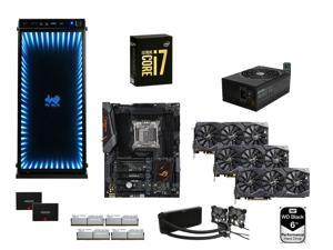 Intel i7-6950X Broadwell-E 10-Core 3.0GHz, ASUS ROG STRIX X99A, G.SKILL TridentZ 64GB DDR4 3400, EVGA 1600W, IN WIN 805 Inifinity ...