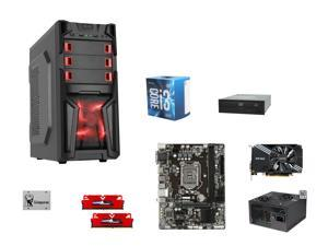 Intel Core i3-6100 3.7GHz, Gigabyte GA-H110M-S2H mATX, GeIL EVO POTENZA 8GB DDR4 2400, ZOTAC GeForce GTX 1060 Mini 3GB, DIYPC ...