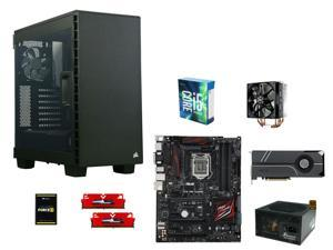Intel Core i5-6600K Skylake Quad-Core 3.5GHz, ASUS Z170 PRO GAMING ATX, GeIL EVO POTENZA 8GB DDR4 2400, Corsair Force 240GB ...