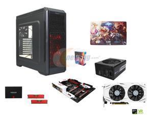 Intel Core i7-6700K Skylake 4.0GHz Quad-Core CPU, GIGABYTE G1 Gaming MB, Corsair Vengeance 16GB MEM, ASUS GeForce GTX 1070 ...