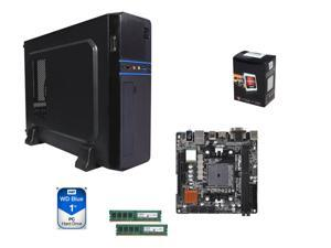 AMD A6-5400K Dual-Core 3.6 GHz CPU, A88X mITX, LOGISYS Computer CS6802BK mATX Case w/ 350W PSU, Crucial 8GB (2 x 4GB)DDR3L ...