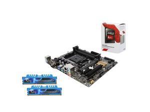 Upgrade Kit UKO-3154K: AMD A8-7600 Kaveri Quad-Core 3.1GHz, ASUS A88X mATX , G.Skill Ripjaws X Series 8GB DDR3 2400