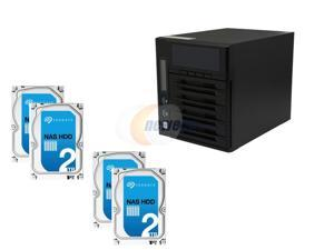 Super Storage Combos CKO-9160K: Thecus W4000 Cloud Ready Windows NAS, 4 x Seagate NAS HDD ST2000VN000 2TB