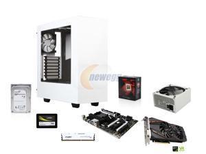 AMD FX-8320 Vishera 8-Core 3.5GHz CPU, MSI 970A SLI Krait MOBO, HyperX Fury White 8GB MEM , Mushkin Enhanced 120GB SSD, Seagate ...
