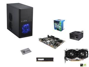 Intel i5-6500 3.2Ghz Quad-Core, H110, 8GB DDR4 2400, GTX 1070 8GB, 430W PSU, 120GB, Micro ATX Mini Tower Case