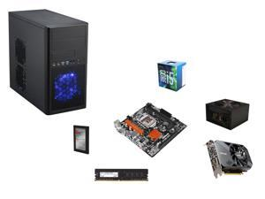 Intel i5-6500 3.2Ghz Quad-Core, H110, 8GB DDR4 2400, GTX 1060 3GB, 450W, 120GB, Micro ATX Mini Tower Case