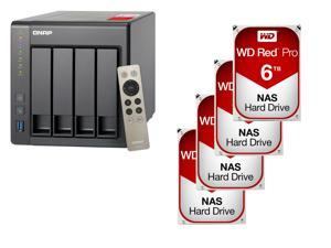 QNAP TS-451+-2G-US 4-Bay Personal Cloud NAS with HDMI output, DLNA, AirPlay and PLEX Support Black Case, Remote Control Included, ...