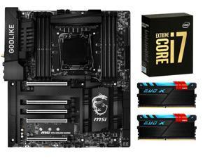 RGB Combo: MSI X99A GodLike Gaming Carbon E-ATX Intel Motherboard, Intel Core i7-6950X 10-Core 3.0GHz CPU, GeIL EVO X 16GB ...