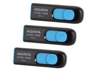 3 x ADATA DashDrive UV128 16GB USB 3.0 Flash Drive