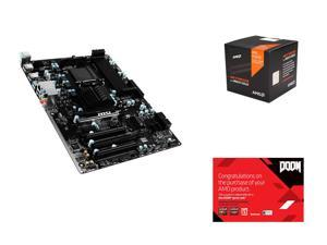 AMD FX-8370 4.0GHz 8-Core with Cooler, MSI 970A-G43 Plus AM3+/AM3 AMD 970 & SB950, AMD Gifts
