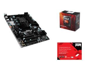 AMD FX-8350 Black Edition Vishera 8-Core 4.0 GHz, MSI 970A-G43 Plus AM3+/AM3 AMD 970 & SB950, AMD Gifts
