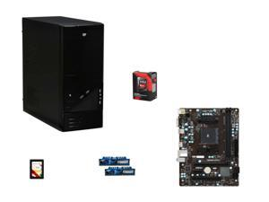 AMD A10-7700K Kaveri Quad-Core 3.4Ghz Processor +  LOGISYS 480W Power Supply + MSI SATA 6Gb/s USB 3.0 Motherboard + G.SKILL 8GB Desktop Memory + Team 120GB Solid State Drive