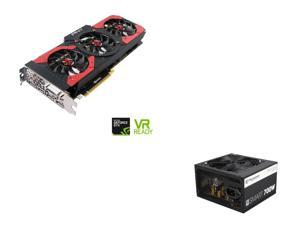 PNY GeForce GTX 1080 8GB Gaming OC Edition Video Card, Thermaltake Smart Series 700W SLI / CrossFire Ready Continuous Power ...
