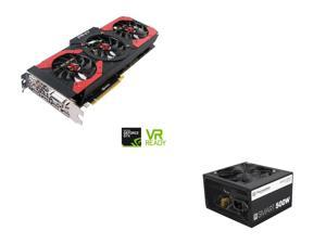 PNY GeForce GTX 1080 8GB Gaming OC Edition Video Card, Thermaltake Smart Series 500W SLI/CrossFire Ready Continuous Power ...