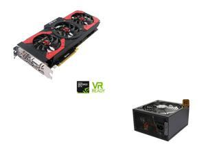 PNY GeForce GTX 1080 8GB Gaming OC Edition Video Card, Rosewill Glacier-600M, Glacier Series 600W Modular Power Supply with ...