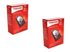 "Shell Shocker Storage Combo Pack: (2x) TOSHIBA P300 3TB 7200 RPM 64MB Cache SATA 6.0Gb/s 3.5"" Desktop Internal Hard ..."