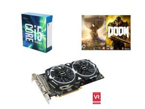 Intel Core i5-6600K Skylake Quad-Core 3.5 GHz Desktop Processor + MSI Radeon RX 480 8GB 256-Bit GDDR5 PCI Express Video Card + AMD Civilization VI + DOOM