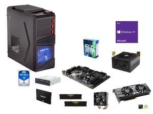 Budget Gaming Bundle: Intel i5-6600K 3.5Ghz Quad-Core, Rosewill Gaming ATX Mid Tower Case, Z170, CORSAIR 16GB DDR4, SAMSUNG ...
