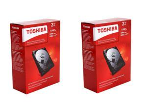 "Shell Shocker Storage Bundle: 2 x TOSHIBA P300 2TB 7200 RPM 64MB Cache SATA 6.0Gb/s 3.5"" Desktop Internal HDD"