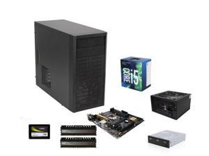 Intel Core i5-7500 Kabylake Quad-Core 3.4 GHz, ASUS Z170M-PLUS MOBO, Avexir Core 8GB DDR4 2400, Fractal Design Core 1000 ...