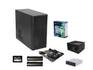 Intel Core i5-7600K Kaby Lake Quad-Core 3.8 GHz, ASUS Z170M-PLUS MOBO, Avexir Core 8GB DDR4 2400, Fractal Design Core 1000 ...
