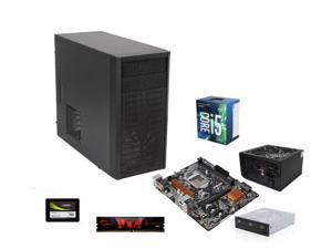 Intel Core i5-7500 Kaby Lake Quad-Core 3.4 GHz, ASRock H110 LGA 1151 mATX, G.SKILL Core 8GB DDR4 2133, Fractal Design Core ...