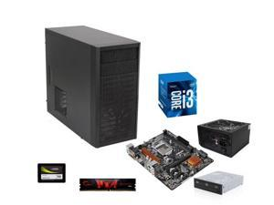 Intel Core i3-7320 Kaby Lake Dual-Core 4.1 GHz, ASRock H110 LGA 1151 mATX, G.SKILL Core 8GB DDR4 2133, Fractal Design Core ...