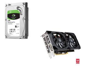 XFX Radeon RS RX 480 8GB CrossFireX Support Video Card, Seagate BarraCuda Pro 2TB Hard Drive
