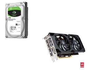 XFX Radeon RS RX 480 8GB CrossFireX Support Video Card, Seagate BarraCuda Pro 4TB Hard Drive