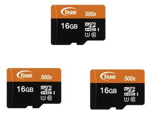 3-Pack Team TUSDH16GUHS03 16GB UHS-I / Class 10 533x MicroSDHC Memory Card