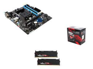 AMD Upgrade Combo: AMD A10-7860K with AMD Quiet Cooler Quad-Core , ASRock FM2A88M PRO3+ FM2+ Micro ATX MB, G.SKILL Sniper ...