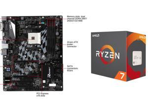 AMD RYZEN 7 1700 8-Core 3.0 GHz (3.7 GHz Turbo) Socket AM4  65W YD1700BBAEBOX Desktop Processor + BIOSTAR B350GT5 AM4 AMD ...