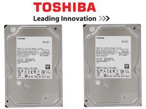 "(Pack of 2) Toshiba 1TB 7200 RPM 32MB Cache SATA 6.0GB/S 3.5"" HDD Bare Drive"