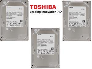 "(Pack of 3) Toshiba 1TB 7200 RPM 32MB Cache SATA 6.0GB/S 3.5"" HDD Bare Drive"