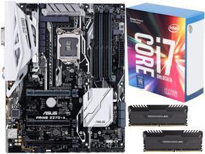 Intel Core i7-7700K Kaby Lake Quad-Core 4.2 GHz LGA 1151 Desktop Processor CPU, CORSAIR Vengeance White LED 16GB (2 x 8GB) ...