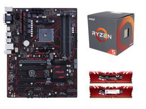 RYZEN 5 Upgrade Combo: AMD RYZEN 5 1600 6-Core 3.2 GHz, ASUS PRIME B350-PLUS AM4 AMD B350, G.SKILL Flare X Series 16GB (2 ...