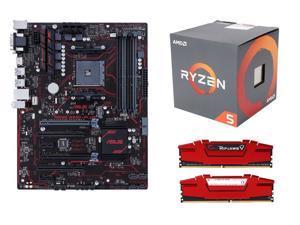 AMD RYZEN 5 1600 6-Core 3.2 GHz (3.6 GHz Turbo) Socket AM4 65W YD1600BBAEBOX Desktop Processor, ASUS PRIME B350-PLUS AM4 ...