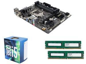 Intel Upgrade Combo: Intel Core i5-7500 Kaby Lake Quad-Core 3.4 GHz Processor, GIGABYTE GA-B250M-DS3H (rev. 1.0) LGA 1151 ...
