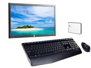 "Refurbished: HP Advantage 23"" LED LCD Monitor + Logitech Wireless Full-Size Keyboard and Mouse + WD 1TB My Passport Slim Portable Storage"