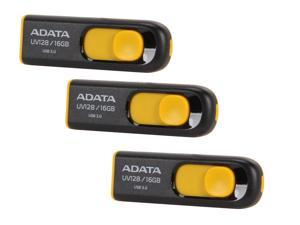 3-Pk. ADATA DashDrive UV128 16GB USB 3.0 Flash Drive