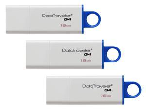 3-Pack Kingston DataTraveler G4 16GB USB 3.0 Flash Drive
